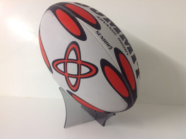 ACRYLIC, PERSPEX RUGBY BALL DISPLAY STAND-0