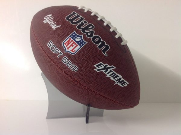 ACRYLIC, PERSPEX RUGBY BALL DISPLAY STAND-162