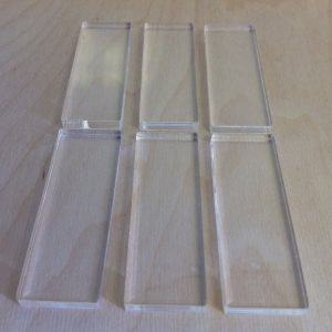 ACRYLIC STAMPING BLOCKS 70MM X 25MM 5mm-0