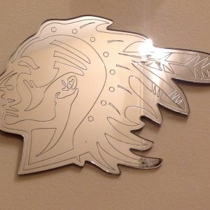 NATIVE AMERICAN BRAVE MIRROR -0