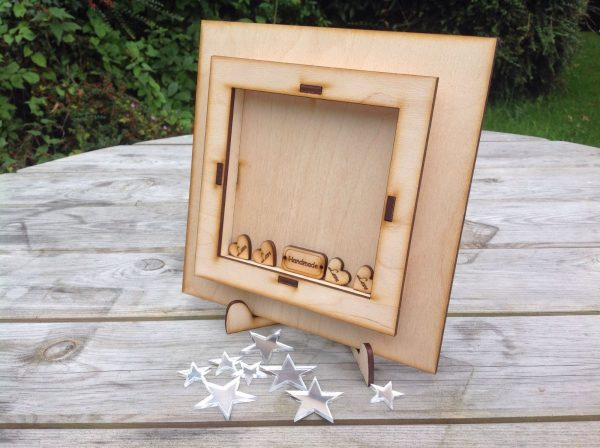 crafting 3D wooden card complete with stand-0