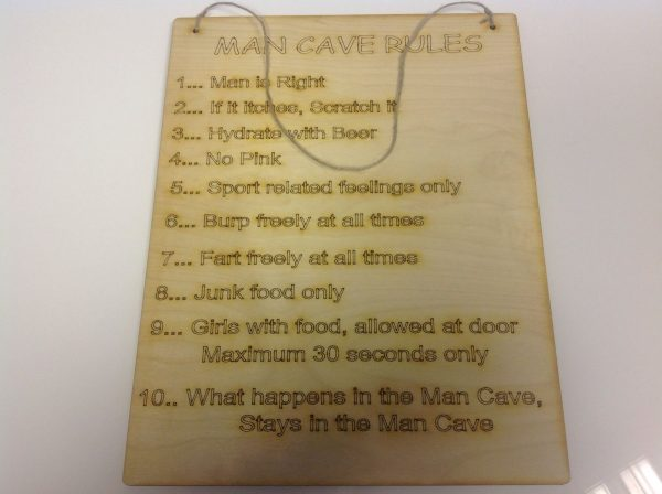 Man Cave Rules, Sign/Plaque-0