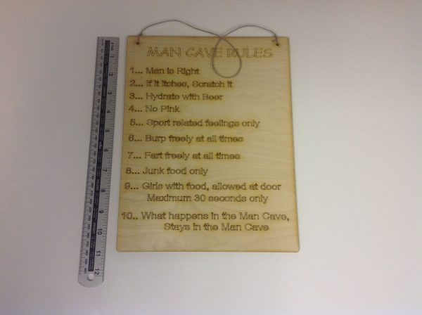 Man Cave Rules, Sign/Plaque-1472