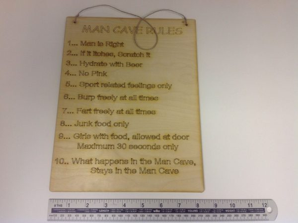 Man Cave Rules, Sign/Plaque-1470