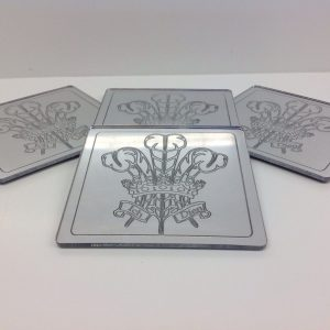 Welsh Feathers Coasters Set Of 4 Silver-0