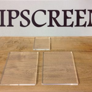 ACRYLIC STAMPING BLOCKS 5mm THICK PACK OF 4-0